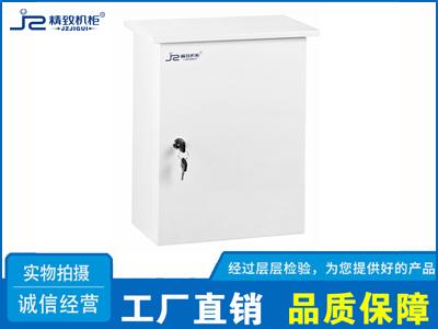 乳白色监控立杆设备箱