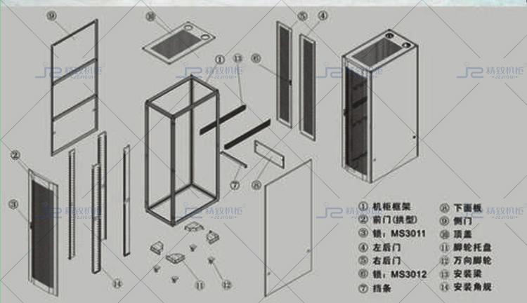 九折型材服务器机柜图纸