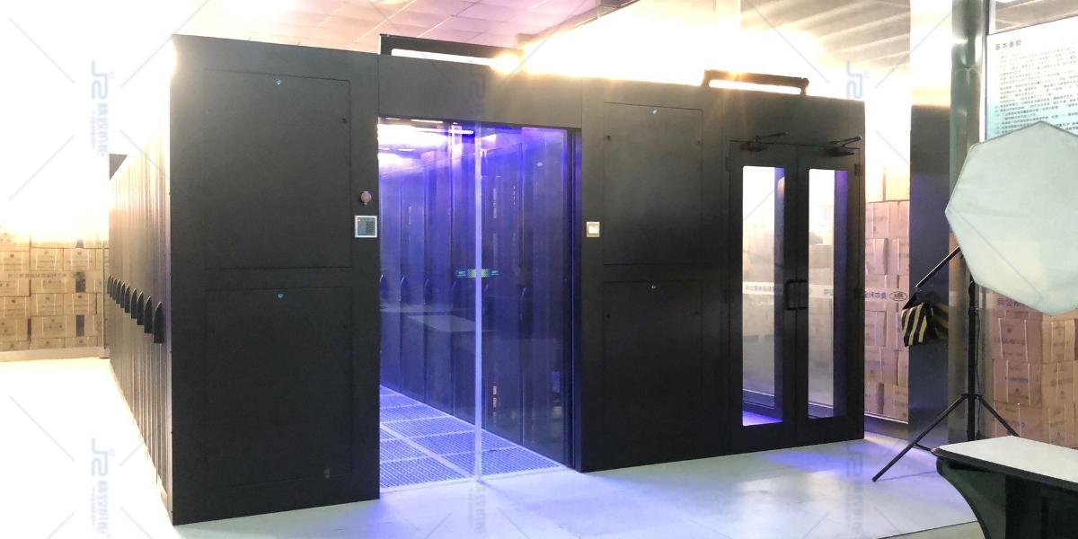精致冷通道机柜助福田诺安基金数据机房冷通道项目