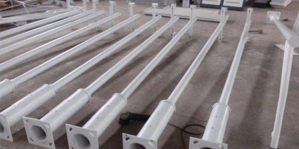 深圳监控立杆厂家-3米单臂三枪变径监控立杆定制加工图纸